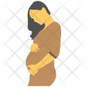 Pregnant Women Motherhood Icon