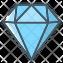 Diamond Crystal Clean Code Icon