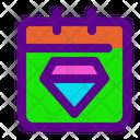 Gem Day Banking Icon