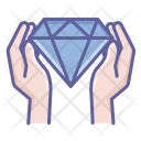Diamond Finger Hand Icon