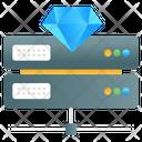 Premium Hosting Premium Data Data Server Icon