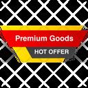 Premium Quality Banner Tag Icon