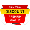 Premium Quality Banner Tag Icon