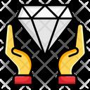 Diamond Cyrstal Gemstone Icon
