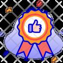 Premium Quality Award Success Icon