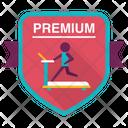 Premium Treadmill Badge Icon