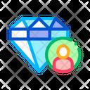 Diamond Human Talent Icon