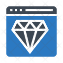 Webpage Diamond Jewelry Icon