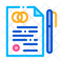 Pre Nuptial Agreement Contract Icon