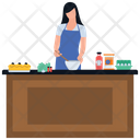 Preparing Food Home Kitchen Homemade Food Icon