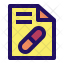 Prescription Recipe Medical Icon