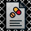Prescription File Paper Icon