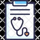 Prescription Medical Report Health Report Icon