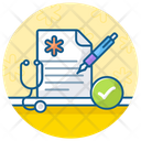 Patient Report Case History Medical Report Icon