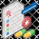 Prescription Medical Recipe Medicine Report Icon