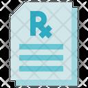 Medical Service Prescription Document Icon