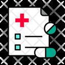 Prescription Medical Report Medicine Icon
