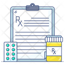 Prescription Medical Report Patient Card Icon