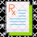 Prescription Health Medication Icon
