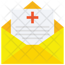 Prescription Medical Report Envelope Icon