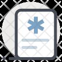 Prescription Paper Document Icon