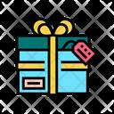 Present Cardboard Box Icon