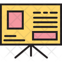 Easel Chalkboard Presentation Icon