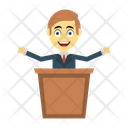 Presentation Board Speech Icon