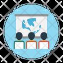 Presentation Board Classroom Icon