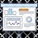 Presentation Trend Analysis Statistics Icon