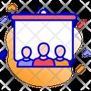 Presentation Blackboard Training Icon