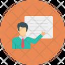 Presentation Board Meeting Icon