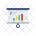 Presentation Board Bitcoin Icon