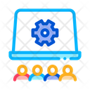 Office Working Meeting Icon