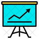 Analytics Blackboard Chart Icon