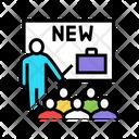 Business Partnership Presentation Icon