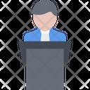 Speech Speaker Presenter Icon
