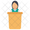 Presentation Podium Communication Icon