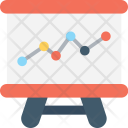 Presentation Whiteboard Graph Icon