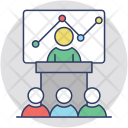 Business Graph Presentation Icon