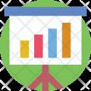 Presentation Easel Stats Icon