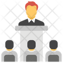 Presentation Speech Training Icon