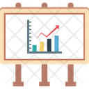 Graph Report Line Graph Growth Chart Icon