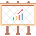 Graph Board Easel Board Presentation Icon
