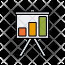 Presentation Board Statistics Graph Icon