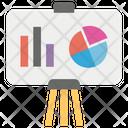 Presentation Bar Graph Pie Chart Icon