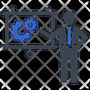Presentation Gear Process Icon