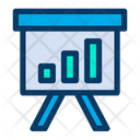 Bar Graph Report Meeting Icon