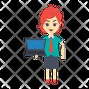 Laptop Notebook Employee Icon