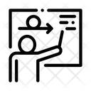 Man Silhouette Board Icon